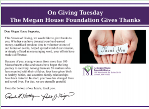Giving Thanks on Giving Tuesday